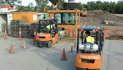 Licence to operate a forklift truck
