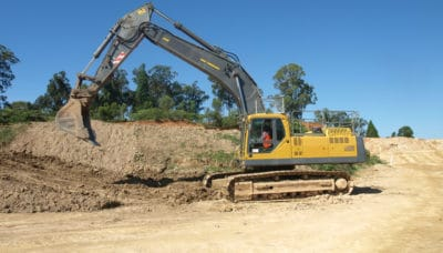Conduct civil construction excavator operations
